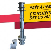 Entretoise PVC avec collerette prêt à l'emploi - Cofrasud
