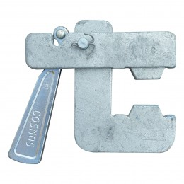 Serrage à levier galvanisé avec clavette horizontale