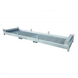 Rack de rangement galvanisé pour clôture de chantier