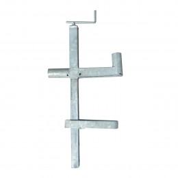 Support pince dalle à vis double position galvanisé