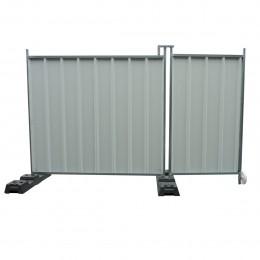 Portillon pour clôture mobile opaque