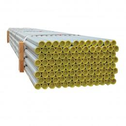 Tube garde-corps bouchonné galvanisé  Ø34 mm - Lg 3.00 ml
