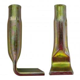 Douille de fixation coudée Zinguée M16 Lg 80 mm