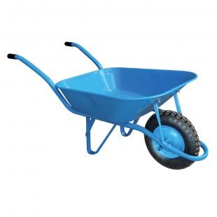Brouette 85 L Bleue - roue gonflable