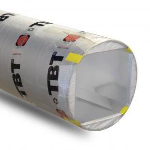 Tube de coffrage TBT 20 x 20 cm angles chanfreinés - Lg 4 ml