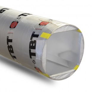 Tube de coffrage TBT 20 x 25 cm angles chanfreinés - Lg 3 ml
